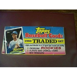 Sealed 1989 Topps Traded & Rookieセット、フラットフォトボックスKen Griffey Jr