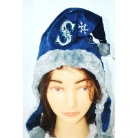 Seattle Mariners MLB公認Holidayダングル帽子Xmasサンタ帽子by Forever Collectibles