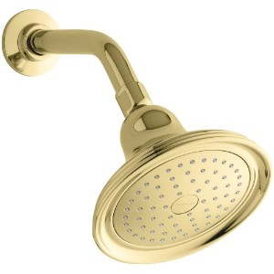 Kohler K-10391-AK-PB Devonshire Single-Faucet Katalyst Showerhead%カンマ% Vibrant Polished Brass