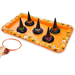 KOVOT Halloween Witch Hat Ring TossインフレータブルGame – 再生for CandyまたはFun