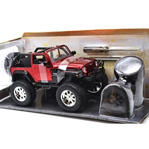 "Jada TOYS 1:24SCALE JUST TRUCKS ""2007 JEEP WRANGLER""(RED)  ジェイダトイズ ジャストトラックス 1:24スケール 「2007 ジープ..."