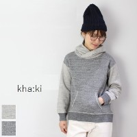 kha:ki(カーキ)WIDFE SWEAT HOODY 2colormade in japanmil-17fcs103