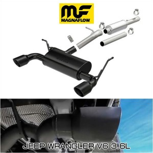 MAGNAFLOW CAT-BACK EXHAUST SYSTEM JEEP WRANGLER V6 3.6L #19327 マグナフロー JK ラングラー マフラー アメ車
