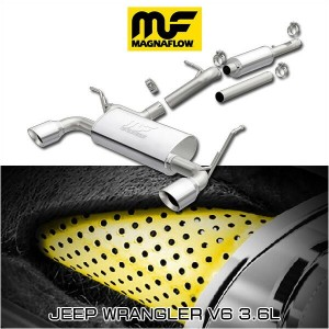 MAGNAFLOW CAT-BACK EXHAUST SYSTEM JEEP WRANGLER V6 3.6L #19326 マグナフロー JK ラングラー マフラー アメ車