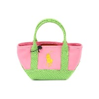 Ralph Lauren ポロ ラルフローレン ミニトートバッグ 950040 Seaside Mini Tote HarbourPink Lime Yellow [ Ralph Lauren |...