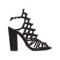 Schutz - block heel caged sandals - women - レザー - 36
