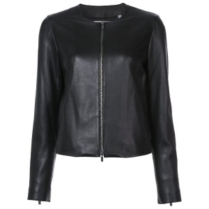 Vince - zipped jacket - women - シルク/ラム・ヌバックレザー - S