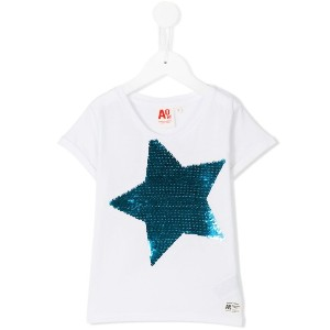 American Outfitters Kids - スパンコールスターtシャツ - kids - コットン - 4歳