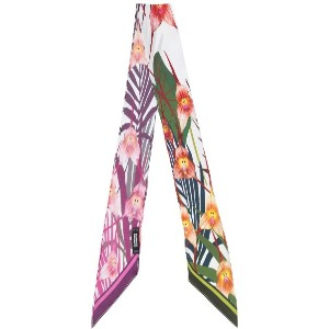 Rockins - floral embroidered scarf - women - シルク - ワンサイズ