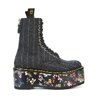 R13 - floral flatform boots - women - レザー/ウール/rubber - 38