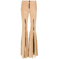 Andrea Bogosian - chamois flared trousers - women - セーム革 - M