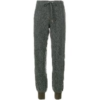 See By Chloé - perforated argyle track trousers - women - コットン/アクリル/ポリエステル/ビスコース - M