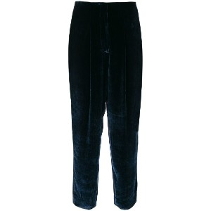 Incotex - tied tapered trousers - women - シルク/ビスコース - 40