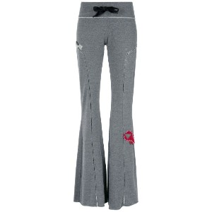 Andrea Bogosian - flared sweat pants - women - コットン/ポリエステル - G