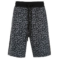 À La Garçonne - animal print sweat bermuda shorts - men - コットン - G