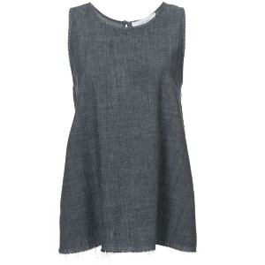 The Great - flared tank top - women - コットン - 1