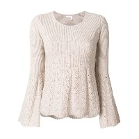 See By Chloé - pointelle flared sweater - women - コットン/ウール - M
