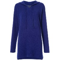 The Elder Statesman - relaxed fit knit hoodie - women - カシミア - L