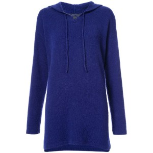 The Elder Statesman - relaxed fit knit hoodie - women - カシミア - XS