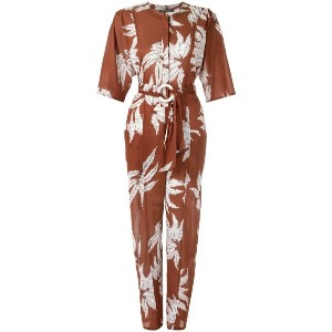 Andrea Marques - printed jumpsuit - women - コットン - 40
