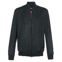 Kiton - felt bomber jacket - men - レザー/カシミア - 54