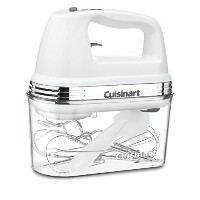 "Cuisinart Power Advantage Plus 9-speed Hand Mixer withストレージケース 8.9"" x 3.9"" x 8.5"" ホワイト ZPV-2541"