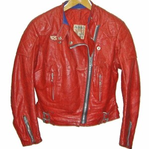 LEWIS LEATHERS GT Monza 70s VINTAGE LEATHER JACKET RED ルイスレザー GTモンザ レザージャケット ライダース 赤 革ジャン(皮ジャン)【中古】...