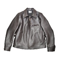 "GANGSTERVILLE SPORTS - JACKET ""COW HIDE"" (BROWN) ギャングスタービル カウハイド レザースポーツジャケット/革ジャン/GLADHAND【WEIRDO..."