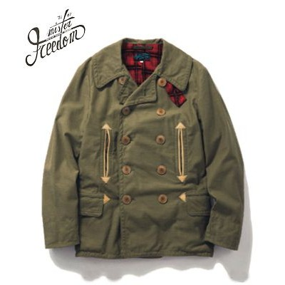 SUGAR CANE×Mr.FREEDOM SURPLUS Made in JAPAN|コットンサテン|Pコート『10oz. COTTON SATEEN MAC JACKET』【アメカジ・ワーク...