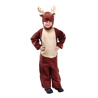 Bristol Novelty Brown Reindeer S Childrens Costume - Boy's - Small, 5-7 Years.