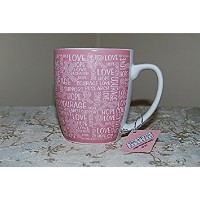 Breast Cancer AwarenessピンクとホワイトStoneware 20oz MugサポートResearch 32035 by Hi