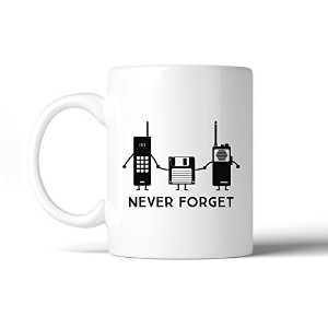 Never Forget White Ceramic Coffee Mug 11 oz Gifts For Grandparents