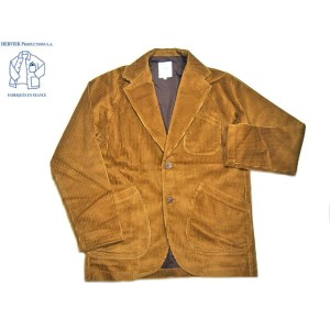 【期間限定40%OFF!】HERVIER PRODUCTIONS(エルヴィエ・プロダクションズ)/5WALE CORDUROY RAGLAN WORK JACKET/light brown