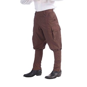 Bristol Novelty Brown Steampunk Trousers Adult Costume - Men's - One Size