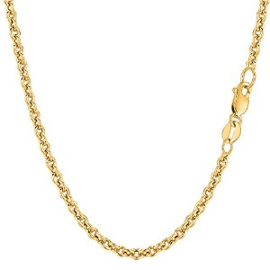 """14k Yellow Gold Forsantina Chain Necklace, 3.1mm, 18"""""""