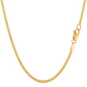 """10k Yellow Gold Gourmette Chain Necklace, 2.0mm, 22"""""""