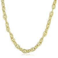 """14K Yellow Gold Filled Mariner Chain Necklace, 6.6mm, 18"""""""