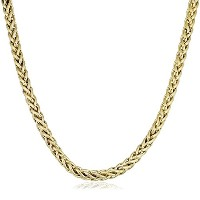 """14K Yellow Gold Filled Round Franco Chain Necklace, 6.0mm, 20"""""""
