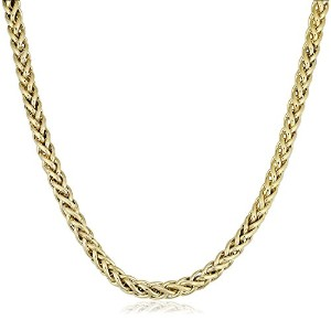 """14K Yellow Gold Filled Round Franco Chain Necklace, 6.0mm, 18"""""""