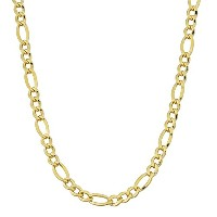 """14K Yellow Gold Filled Solid Figaro Chain Necklace, 4.0 mm, 18"""""""