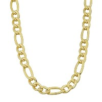 """14K Yellow Gold Filled Solid Figaro Chain Necklace, 6.0 mm, 18"""""""