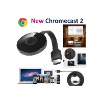 2017 2nd Generation Google Chromecast 2 Mirascreen Digital HDMI Media Video Streamer (Size: One Size