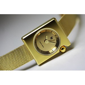 腕時計 Lip Women's 1892192 Mach-Mini Lady Square Analog Display Swiss Quartz Gold Watch [並行輸入品]