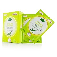 森田薬粧(ドクターモリタ) Green Tea & Amino Essence Moisturizing Facial Mask 10pcs並行輸入品