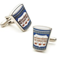 Cufflinks Inc Men 's GreekコーヒーCufflinks ブルー
