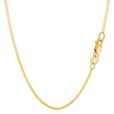 """14k Yellow Gold Mariner Link Chain Necklace - 1.7 mm, 24"""""""