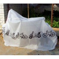 KLOUD Cityテつョ White Polyester Waterproof Bike Bicycle Cover by KLOUD City