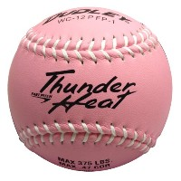 """Dudleyピンクwithホワイトステッチ12"""" non-association Thunder熱複合Fastpitch Softball–パックof 12"""