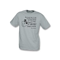 Music and Cats Tシャツ