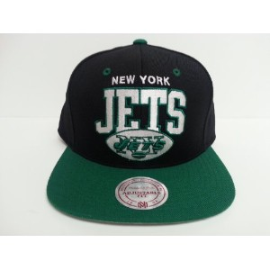 Mitchell & Ness New York Jetsスナップバック帽子